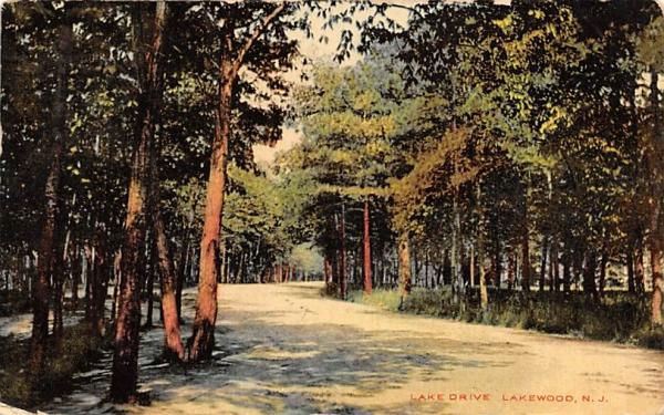 Lake Drive Lakewood, New Jersey Postcard