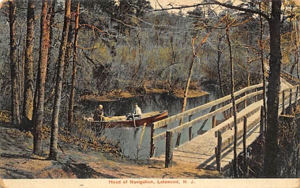 Head of Navigation Lakewood, New Jersey Postcard