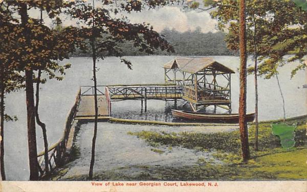 View of Lake near Georgian Court  Lakewood, New Jersey Postcard