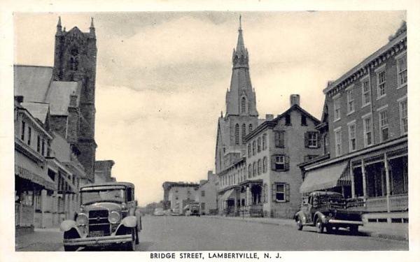 Bridge Street Lambertville, New Jersey Postcard
