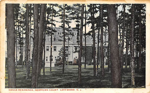 Gould Residence, Georgian Court Lakewood, New Jersey Postcard