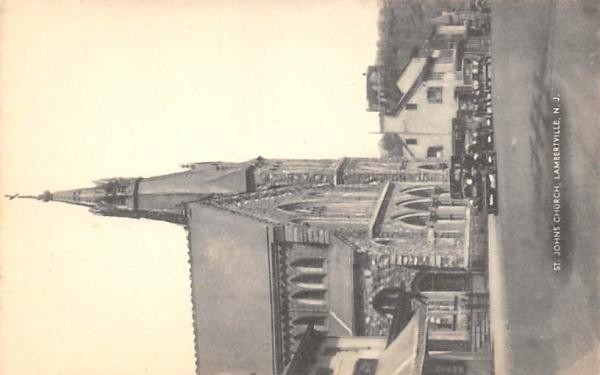 St. Johns Church Lambertville, New Jersey Postcard