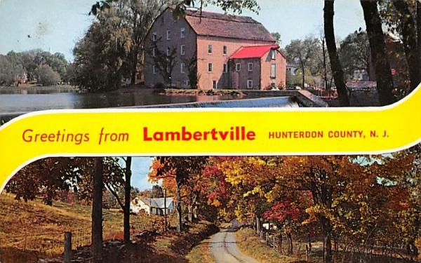 Scenes of Surrounding Countryside Lambertville, New Jersey Postcard