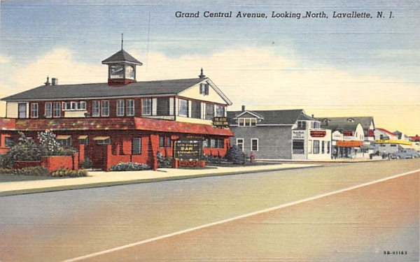 Grand Central Avenue, looking North Lavallette, New Jersey Postcard