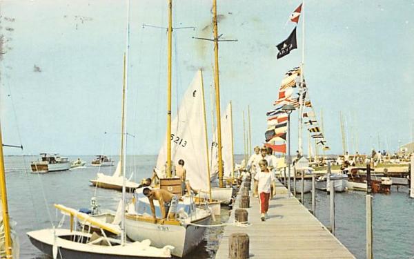 Lavallette Yacht Club on Barnegat Bay New Jersey Postcard