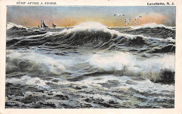 Surf after a Storm Lavallette, New Jersey Postcard