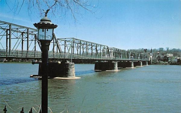 Delaware River Bridge Lambertville, New Jersey Postcard