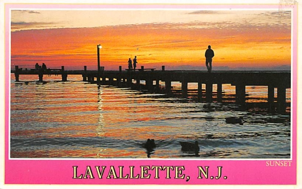A beautiful sunset at Lavallette New Jersey Postcard