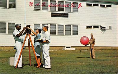 AG School, NATTIC Lakehurst, New Jersey Postcard