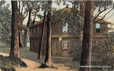 Lakewood Boat Club New Jersey Postcard