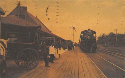 Lakewood Railroad Station New Jersey Postcard
