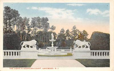 The Lions in Georgian Court Lakewood , New Jersey Postcard