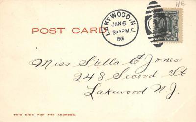 Kissing Bridge Lakewood, New Jersey Postcard