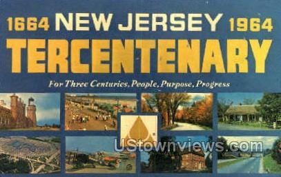 Tercentenary 1664-1964 - Misc, New Jersey NJ Postcard