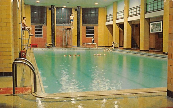 Pool in Hall of Waters Misc, New Jersey Postcard
