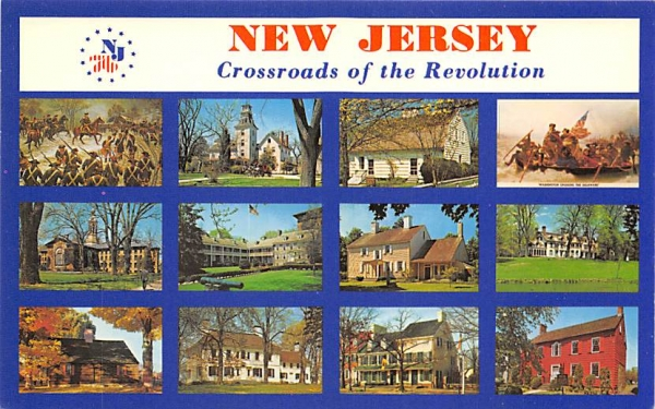 The Crossroads of the Revolution Misc, New Jersey Postcard