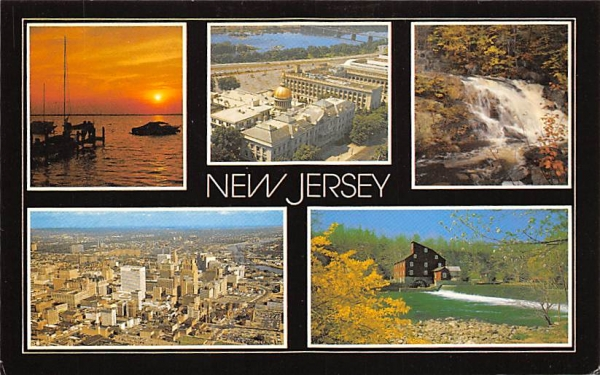 The Garden State Misc, New Jersey Postcard