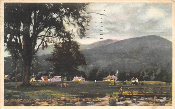 Houses with mountains behind them Misc, New Jersey Postcard