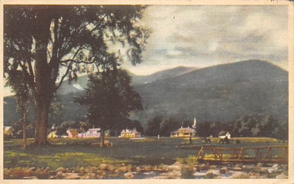 Town with mountians in background Misc, New Jersey Postcard