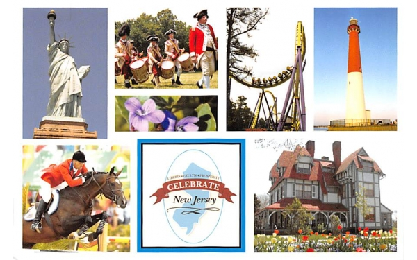 Celebrate New Jersey, USA Postcard