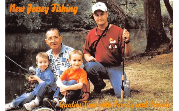 Fishing Quality Time with Family & Friends Misc, New Jersey Postcard