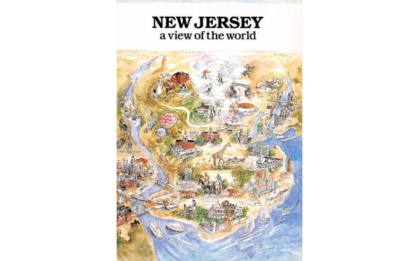 New Jersey a view of the world Postcard