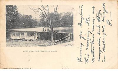 Tier's Pond, from Watchung Avenue Misc, New Jersey Postcard