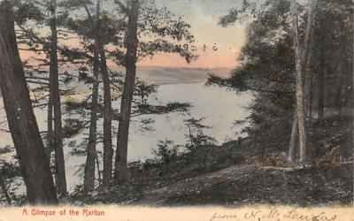 A Glimpse of the Raritan Misc, New Jersey Postcard