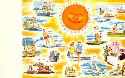 Fun in the Sun Misc, New Jersey Postcard