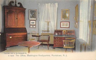 The Office, Washington Headquarters Morristown, New Jersey Postcard