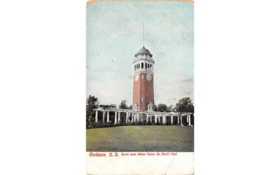 Brook Lake Chime Tower, Dr. Ward's Park Madison, New Jersey Postcard