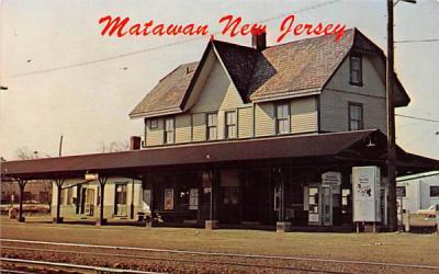 The Matawan Train Station New Jersey Postcard