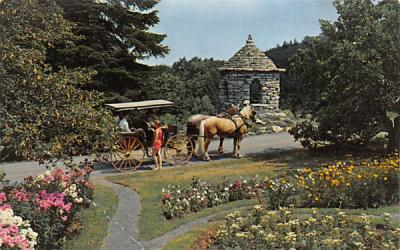 A Carriage Ride through the Mohonk Gardens Mohonk Lake, New Jersey Postcard