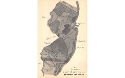 Counties State of New Jersey Postcard
