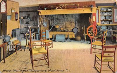 Kitchen, Washington Headquarters Morristown, New Jersey Postcard
