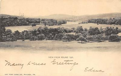 View from Round Top Misc, New Jersey Postcard