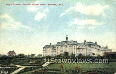 High School  - Newark, New Jersey NJ Postcard