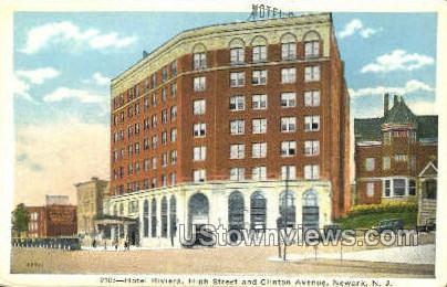 Hotel Riviera - Newark, New Jersey NJ Postcard