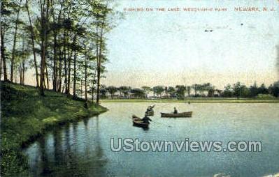 Lake In Weequahic Park - Newark, New Jersey NJ Postcard