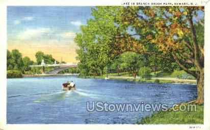 Lake In Branch Brook Park - Newark, New Jersey NJ Postcard