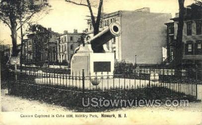 Cannon Captured In Cuba - Newark, New Jersey NJ Postcard