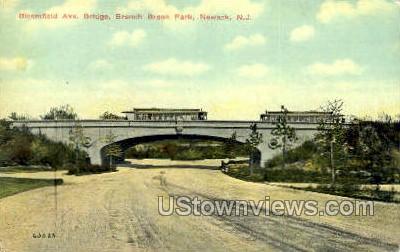 Bloomfield Avenue  - Newark, New Jersey NJ Postcard