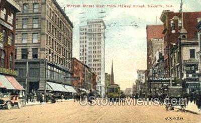 Market Street - Newark, New Jersey NJ Postcard