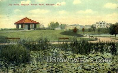 Lily Pond Branch Brook  - Newark, New Jersey NJ Postcard