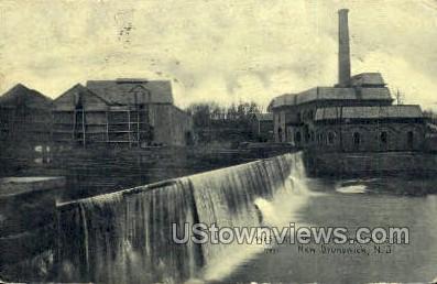 Weston'S Mill City Water Works  - New Brunswick, New Jersey NJ Postcard