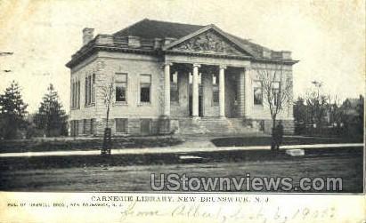 Carnegie Library  - New Brunswick, New Jersey NJ Postcard