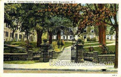 Queen Campus Rutgers College - New Brunswick, New Jersey NJ Postcard