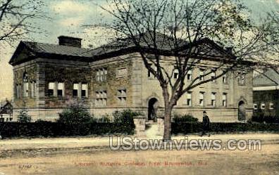 Library Rutgers College - New Brunswick, New Jersey NJ Postcard