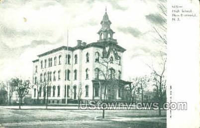 High School  - New Brunswick, New Jersey NJ Postcard