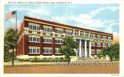 Roosevelt Junior High School - New Brunswick, New Jersey NJ Postcard